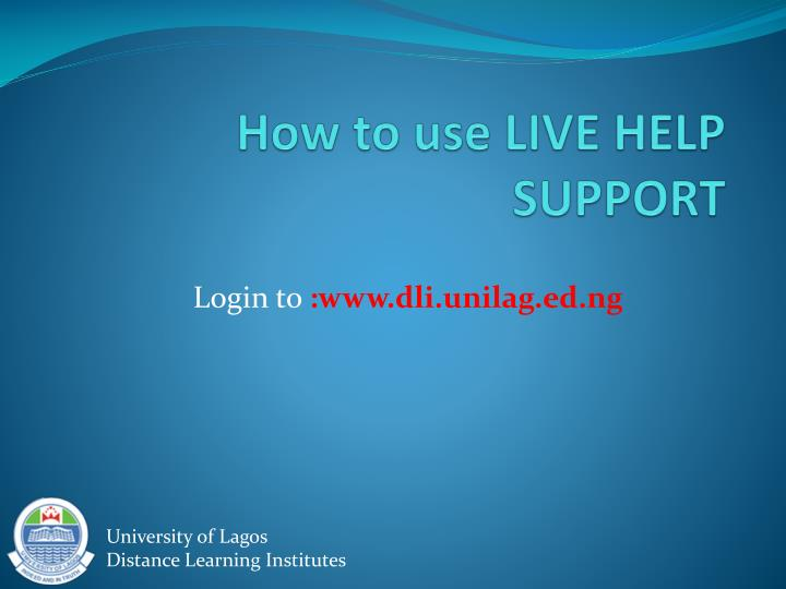 how to use live help support n.