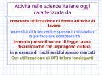 attivit nelle aziende italiane oggi caratterizzata da