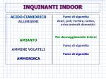 inquinanti indoor