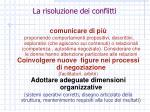 la risoluzione dei conflitti1