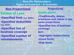 non life reinsurance types of contract a reminder
