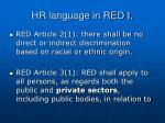 hr language in red i