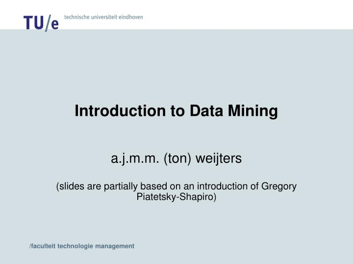 introduction to data mining n.
