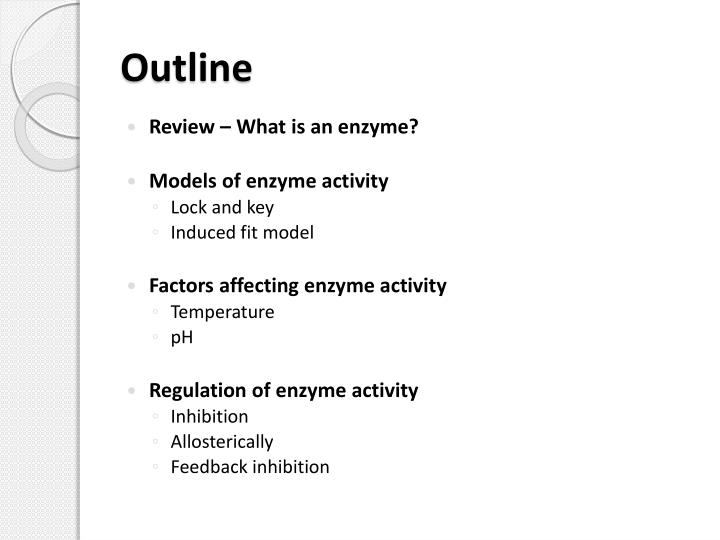 factors affecting the activity of enzymes essay There are two certain factors that relate to an enzymes chemical structure those factors are its specificity and its catalytic activity the specificity of an enzyme is attributed to a compatible fit between the shape of its active site and the shape of the substrate.