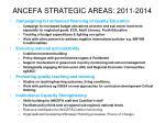 ancefa strategic areas 2011 2014