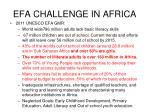 efa challenge in africa