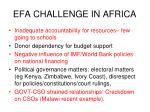 efa challenge in africa1
