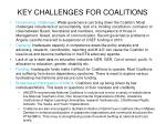 key challenges for coalitions