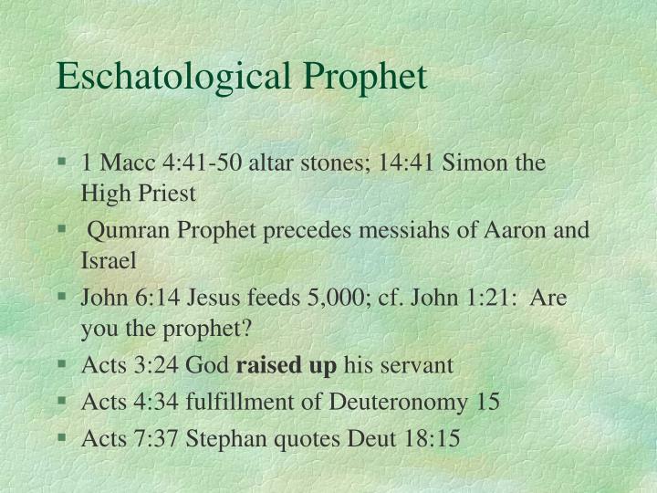 Eschatological Prophet