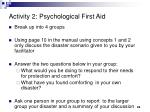activity 2 psychological first aid
