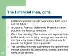 the financial plan cont1