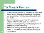 the financial plan cont3