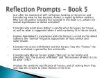 reflection prompts book 5