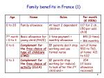 family benefits in france 1