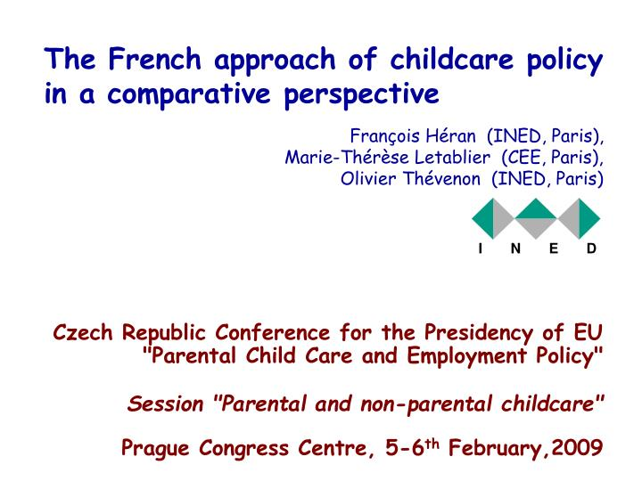 the french approach of childcare policy in a comparative perspective n.