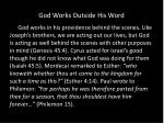 god works outside his word4