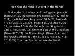 he s got the whole world in his hands11