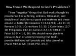how should we respond to god s providence2