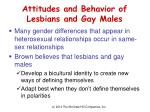 attitudes and behavior of lesbians and gay males