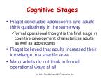 cognitive stages