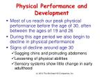 physical performance and development