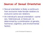 sources of sexual orientation