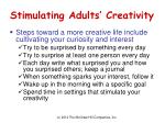 stimulating adults creativity