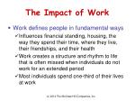 the impact of work