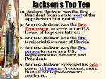 jackson s top ten