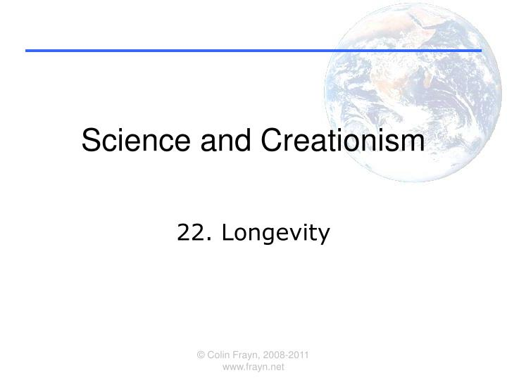 science and creationism n.