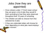 jobs how they are appointed
