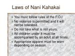laws of nani kahakai