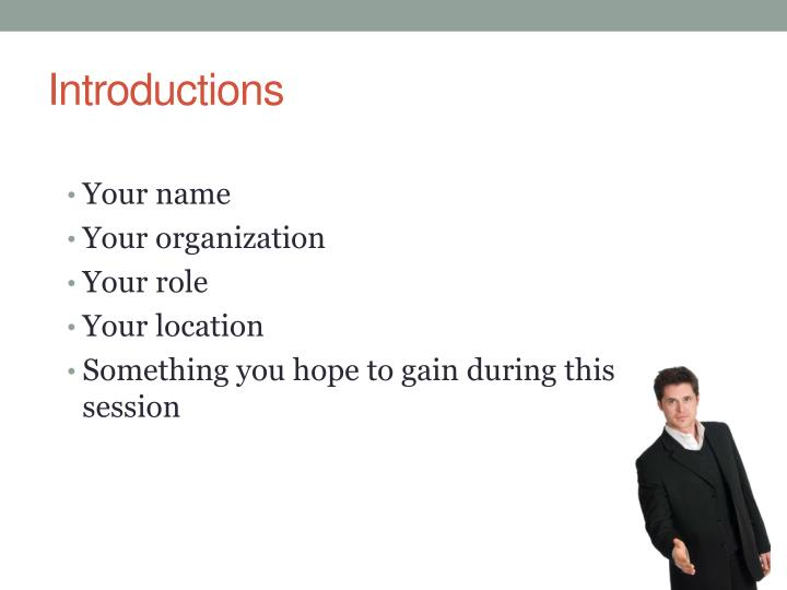 introductions n.