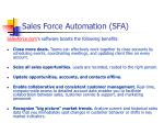 sales force automation sfa1