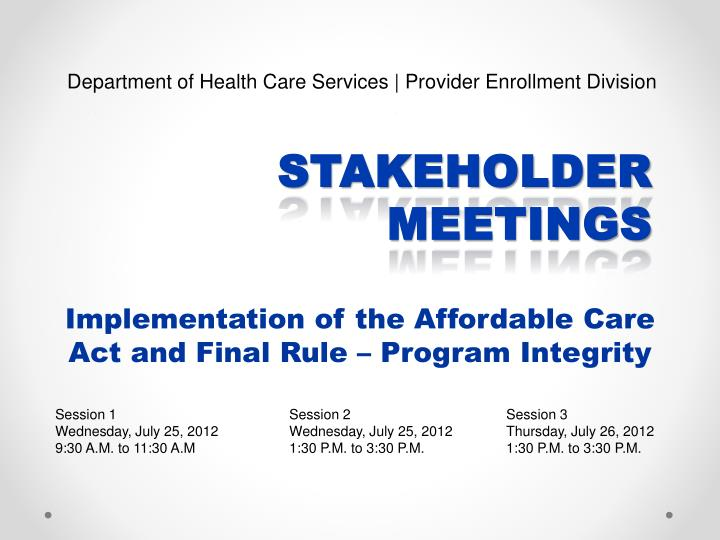 implementation of the affordable care act and final rule program integrity n.