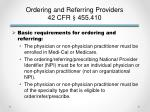 ordering and referring providers 42 cfr 455 4102