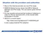 situation with the providers and authorities
