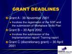 grant deadlines