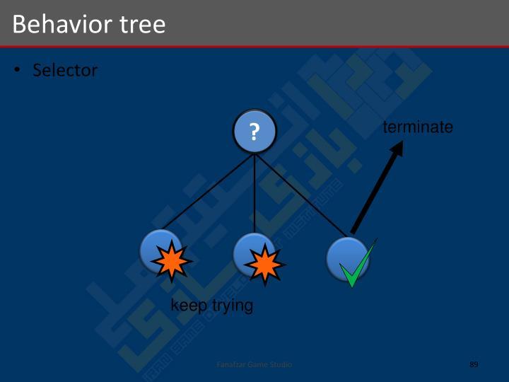 Behavior tree