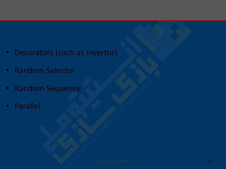 Decorators (such as