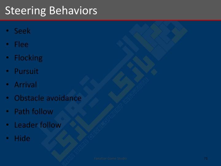 Steering Behaviors