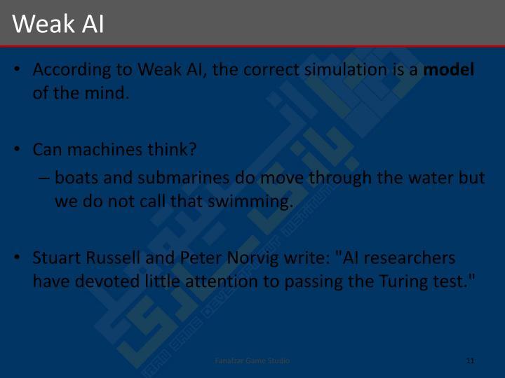 Weak AI