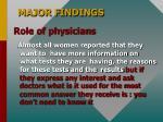 major findings8