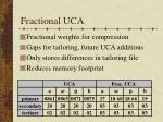 fractional uca