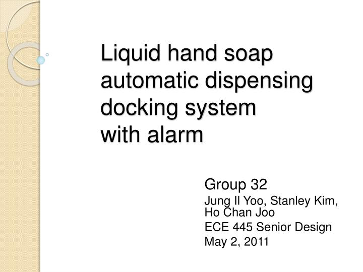 liquid hand soap automatic dispensing docking system with alarm n.