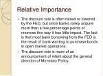 relative importance1