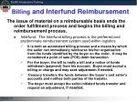 billing and interfund reimbursement