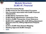 module structure dlms 4f financial