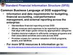 standard financial information structure sfis