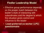 fiedler leadership model